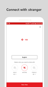 screenshot of stranger chat - anonymous chat version 2.4.2