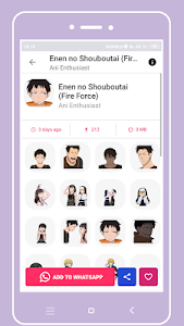 screenshot of +1000 Anime Stickers For WhatsApp (WAStickerApps) version 1.1.4