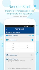 screenshot of MyHyundai with Blue Link version 4.0.10