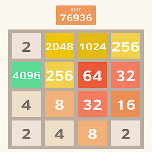 screenshot of 2048 version 1.0
