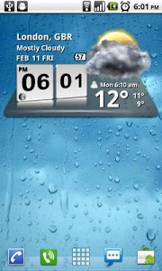 screenshot of 3D Digital Weather Clock version 4.2.4