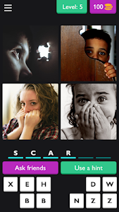 screenshot of ?4 Pics 6 Letter Word: Puzzle?? version 3.3.8z