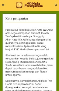 screenshot of 40 Hadis Perumpamaan version 1.1.0