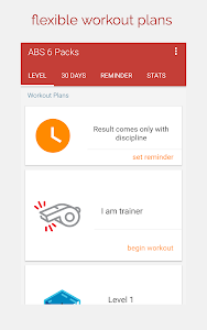 screenshot of ABS Workout - Belly workout, ABS in 30 days version 2.0.7