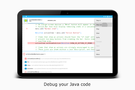 screenshot of AIDE- IDE for Android Java C++ version 3.2.200127