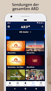 screenshot of ARD Mediathek version 7.5.13