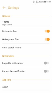 screenshot of File Manager version 2.0.0.397_180123