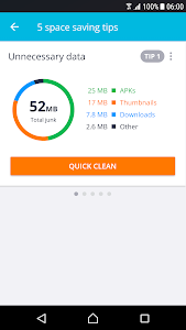 screenshot of AVG Cleaner for Xperia™ version 4.10.1