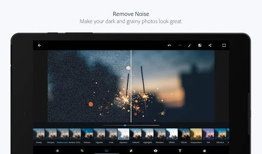 screenshot of Adobe Photoshop Express:Photo Editor Collage Maker version 5.1.524