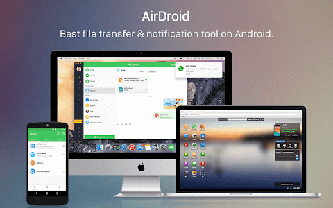 screenshot of AirDroid: Remote access & File version Varies with device