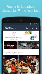 screenshot of Amazon Photos version Varies with device
