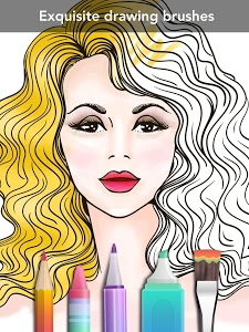 screenshot of Girls Coloring Book version 3.0.5