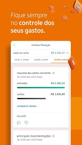 screenshot of Banco Itaú version 6.11.11