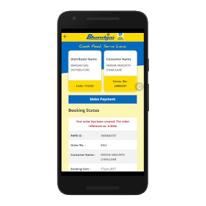 screenshot of Bharatgas version 2.2.3