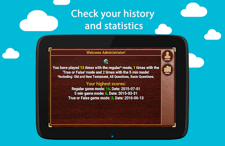 screenshot of Bible Trivia version 1.1