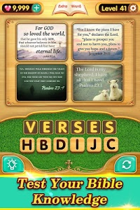 screenshot of Bible Word Puzzle - Free Bible Games version 2.3.4