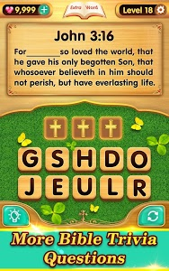 screenshot of Bible Word Puzzle - Free Bible Games version 2.4.1