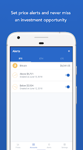 screenshot of Coinbase – Buy and sell bitcoin. Crypto Wallet version Varies with device
