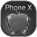 Black Crystal Apple for Phone X and OS 11 Theme