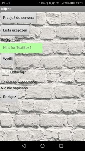 screenshot of Bluetooth Chat version 1.1