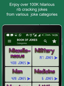 screenshot of Book Of Jokes version 8.9