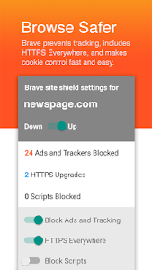 screenshot of Brave Browser: Fast AdBlock version 1.0.0
