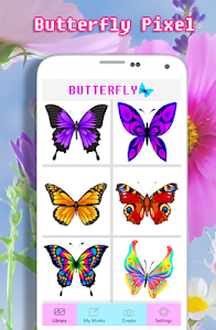 screenshot of Butterfly Coloring Book - Color By Number version 2.0