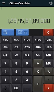 screenshot of Citizen & Gst Calculator version 42.9.19