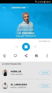 screenshot of Cadena SER Radio version 2.0.22