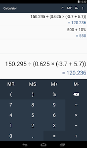 screenshot of Calculator version 1.3.1