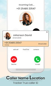 screenshot of Caller Name Location Tracker & True Caller ID version 1.0