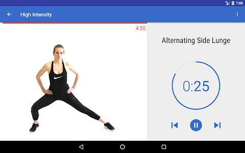 screenshot of HIIT & Cardio Workout by Fitify version Varies with device
