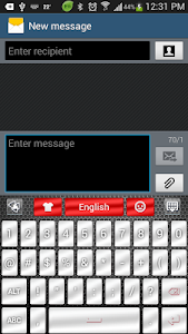 screenshot of Chrome Style GO Keyboard Theme version 1.0