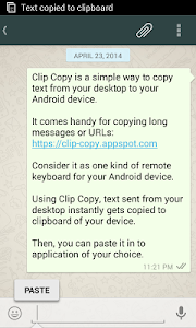 screenshot of Clip Copy - pc to mobile version 1.2