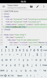 screenshot of CodeBoard Keyboard for Coding version 4.0.3