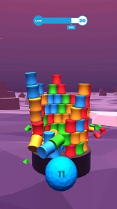 screenshot of Color Stack Tower Shooter version 0.4