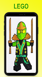 screenshot of Coloring Lego Ninjago version 2.0
