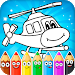 Download Coloring pages for children : transport 1.0.6 APK