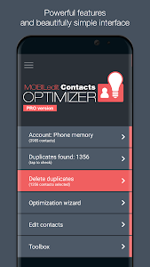 screenshot of Contacts Optimizer version 6.1.3
