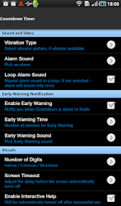 screenshot of Large Countdown Timer version Varies with device