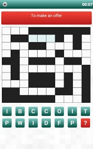 screenshot of Crossword Puzzle Unlimited version 1.0.2