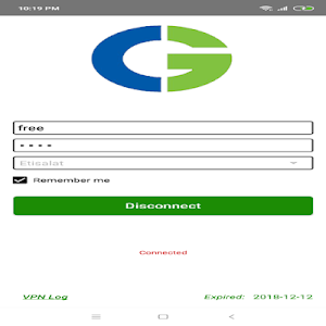 screenshot of CtgGold - One Click Connect version 1.0.3