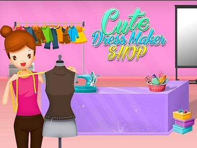 screenshot of Cute Dress Maker Shop: Little Tailor Boutique version 1.0.1