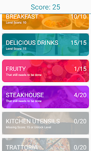 screenshot of Delicious Words - Food Puzzle version 1.27
