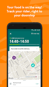 screenshot of Deliveroo: Restaurant Delivery version Varies with device
