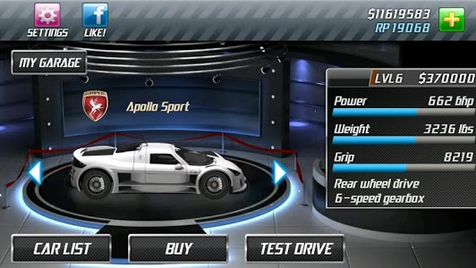 screenshot of Drag Racing version 1.7.63