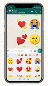 screenshot of Emoji One Stickers for Chatting apps(Add Stickers) version 2.0
