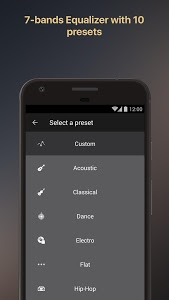 screenshot of Equalizer music player booster version Varies with device
