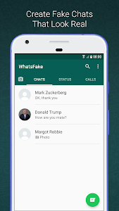 screenshot of Fake Chat for WhatsApp version 1.2.6
