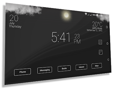 screenshot of Final Interface - launcher + animated weather version 3.5.2